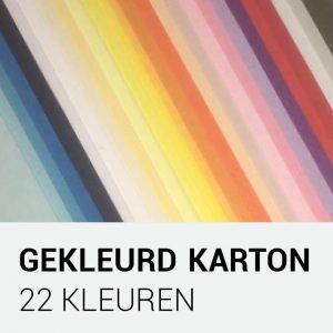 Gekleurd karton